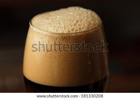 Dark beer - high contrast  - stock photo