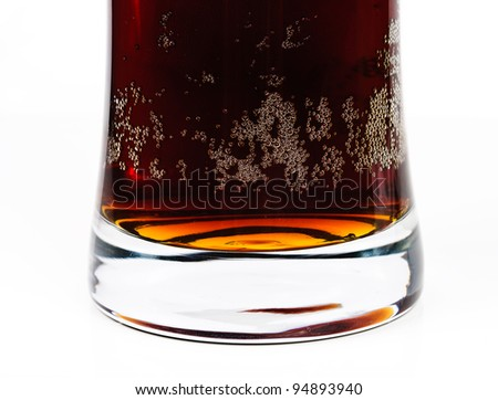 Dark beer. Photo pour beer into a glass - stock photo