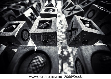dark black and white geometric background - stock photo