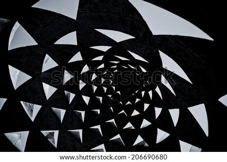 dark black and white triangle background - stock photo