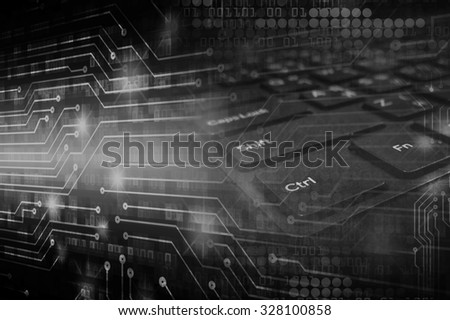 dark black illustration of technology internet network computer background with binary number, style background. infographics. Information. motion blur. pixel. Binary digit. number. - stock photo