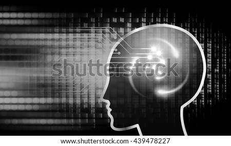 Dark black Light Abstract Technology background for computer graphic website internet business. circuit. illustration. infographics. motion move blur.neon. Brainstorm, Brain. Bulb Ideas