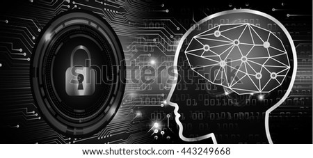 Dark black Light Abstract Technology background for computer graphic website internet business. circuit. illustration. infographics. motion move neon. Brainstorm, Brain. Bulb Ideas - stock photo