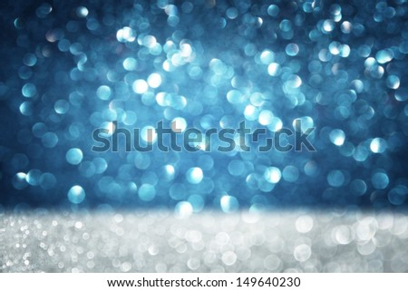 dark blue abstract background, blue bokeh abstract lights - stock photo