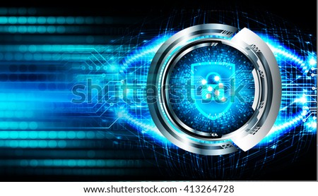 dark blue Abstract digital conceptual technology security background with lock.