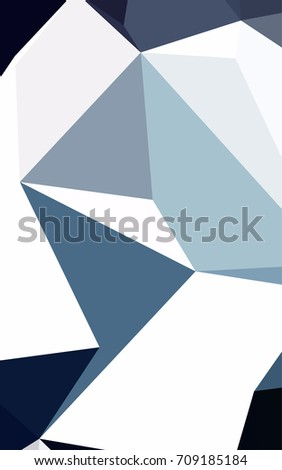 Dark BLUE abstract mosaic background. Brand-new colored illustration in blurry style with gradient. The textured pattern can be used for background.