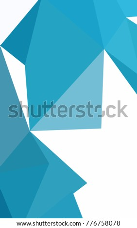 Dark BLUE abstract polygonal background. Colorful abstract illustration with gradient. A new texture for your design.