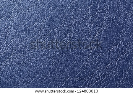 Dark Blue Artificial Leather Background Texture - stock photo