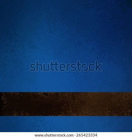 dark blue background with brown ribbon stripe with illustrated leather look - stock photo
