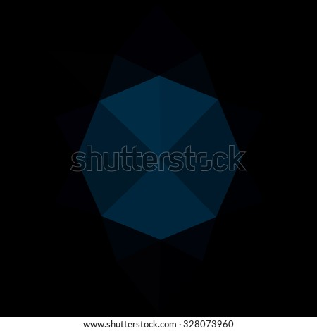 dark blue black gradient geometric pattern. Triangles background. Polygonal raster abstract for your design. Cool background image for websites.
