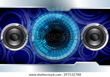 dark blue Circle wave Light Abstract Technology background for computer graphic website internet and business. circuit. illustration. digital. infographics.