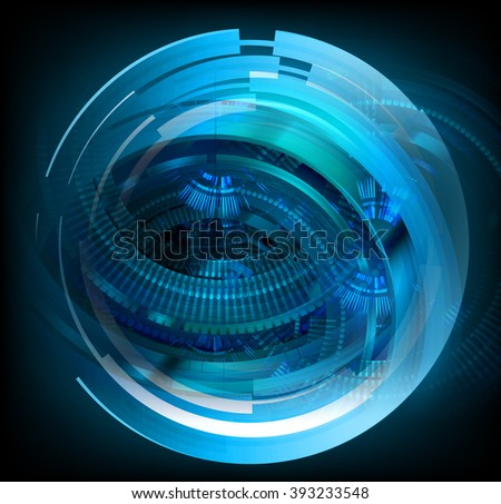 dark blue color Light Abstract Technology background for computer graphic website internet and business. circuit. illustration. digital. infographics. binary code. eye. Global. gear