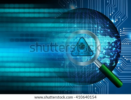 dark blue color Light Abstract Technology background for computer graphic website internet. circuit. illustration. infographics. motion move. lock, key, Padlock. Magnifying.Glass, Magnifier. world map
