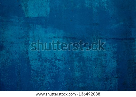 Dark blue concrete wall,abstract background - stock photo