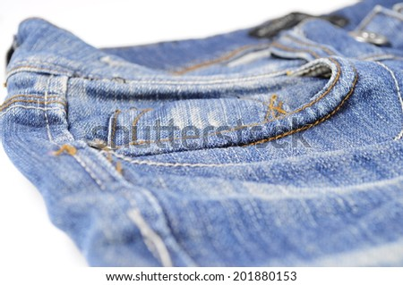 Dark blue denim jeans background texture of cotton