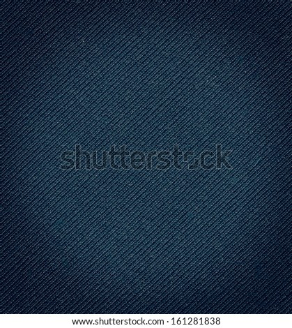 Dark blue fabric texture. Clothes background - stock photo