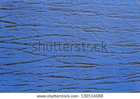 Dark Blue Glossy Artificial Leather Texture - stock photo