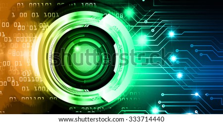 Dark blue green orange illustration of technology internet network computer background with binary number, style background. infographics. Information. motion blur. pixel. Binary digit. number. eye - stock photo