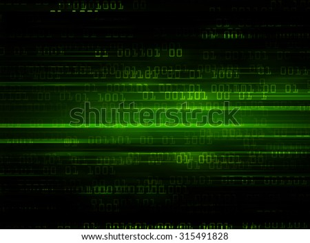 dark blue illustration of technology internet network computer background with binary number, style background. infographics. Information. motion blur. pixel. text box. motion move zoom blur - stock photo