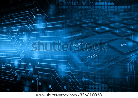 dark blue illustration of technology internet network computer background with binary number, style background. infographics. Information. motion blur. pixel. Binary digit. number - stock photo