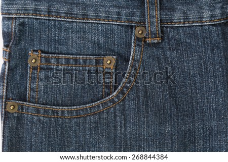 dark blue jeans texture or detail - stock photo