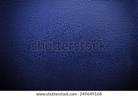 dark blue leather texture - stock photo
