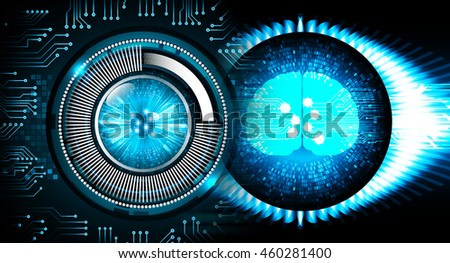 Dark blue Light Abstract Technology background for computer graphic website internet business. circuit. illustration. infographics. motion move blur.neon. Brainstorm, Brain. Bulb Ideas