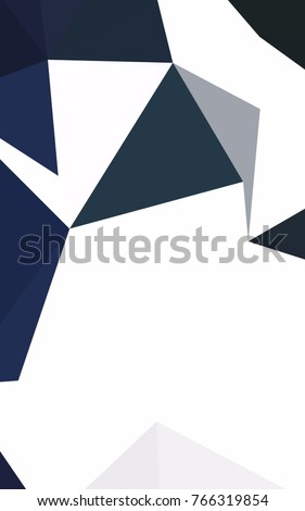 Dark BLUE low poly template. Colorful illustration in abstract style with gradient. The best triangular design for your business.