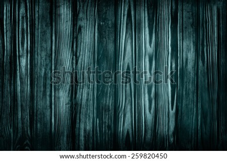 Dark blue pine wood Gothic background and texture surface - stock photo