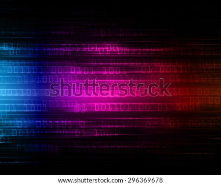 dark blue purple red illustration of technology internet network computer background with binary number, style background. infographics. Information. ray. wave. zero. one - stock photo