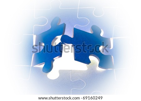 Dark blue puzzles.  It is a metaphor (the beginning; opening; end).