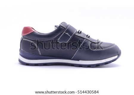 dark blue sneakers isolated on white