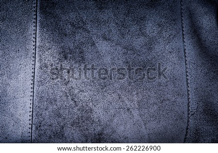 dark blue suede rough texture of woman bag - stock photo