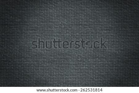 dark brick wall huge texture  - stock photo