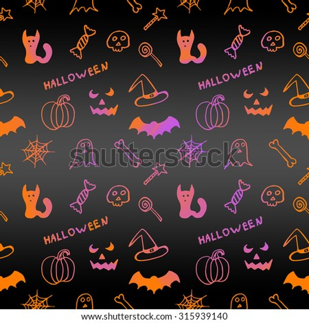 Dark bright seamless texture for Halloween  - stock photo