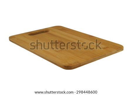 Dark brown cutting board isolated on white background