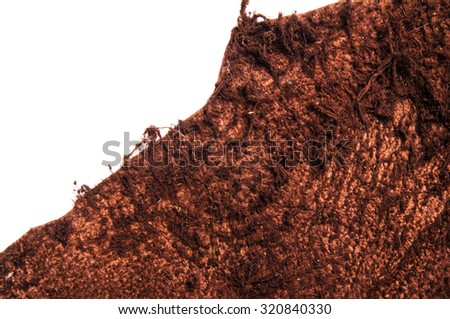 Dark Brown Leather, Genuine. Natural Suede. Concept and Idea of Fine Leather Crafting, Handcrafts, Handmade, Handcrafted, Leather Industry. Background Textured and Wallpaper. Rustic Style. - stock photo