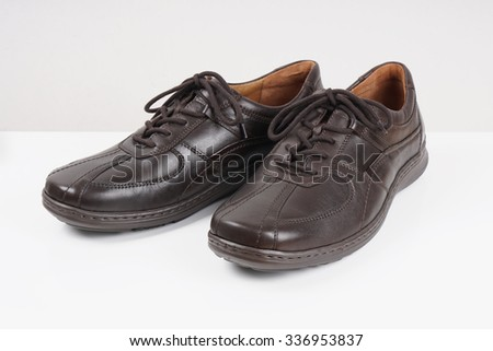 dark brown mens or gents leather shoes