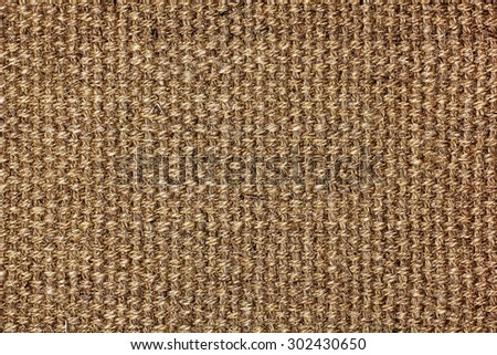dark brown natural linen texture for the background - stock photo