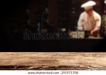 dark brown old top place and cook in bar  - stock photo