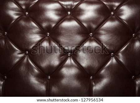 Dark brown retro leather background with copy space