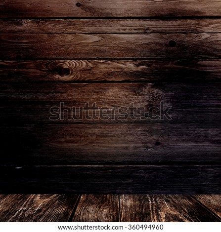 Dark brown rustic wooden wall and floor background  Brutal texture to a room Brown Rustic Wooden Wall Floor Stock Illustration 360494960