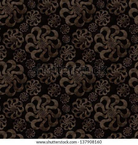 dark brown seamless background with abstract flourish
