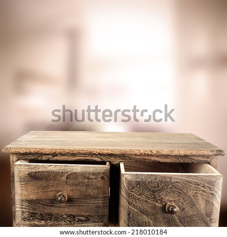 dark brown shelf and home  - stock photo