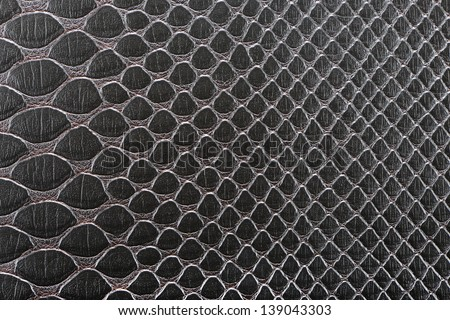 Dark brown synthetic leather with embossed texture background(Cobra)