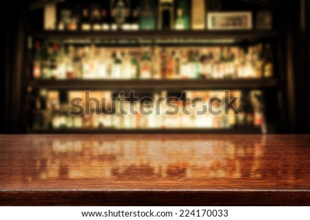 Charming Dark Brown Top Of Bar And Free Space For Your Glass