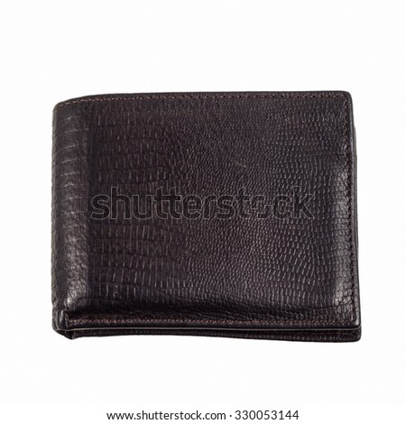 dark brown wallet isolated on white background