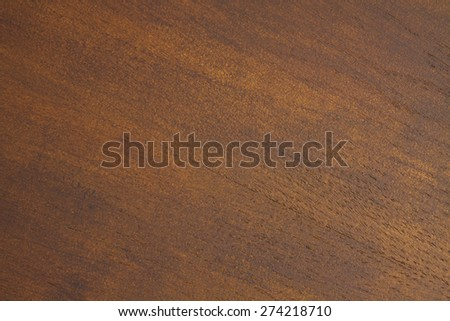 Dark brown wooden board with beautiful lines - stock photo