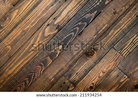 dark brown wooden texture background - stock photo