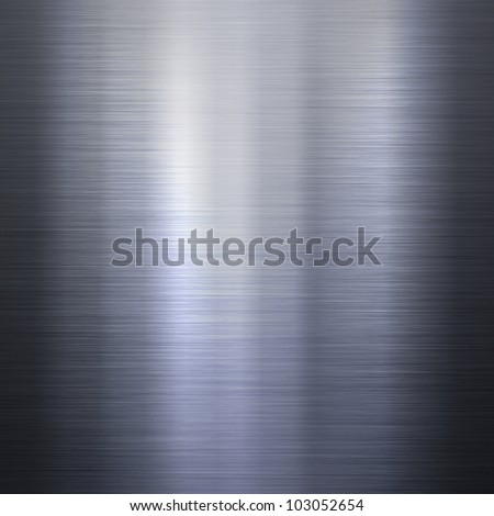 Dark brushed metal aluminum background or texture with reflections - stock photo
